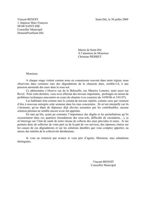 Exemple De Lettre De Demission Adjoint Au Maire Modele Lettre De Demission Du Maire Document
