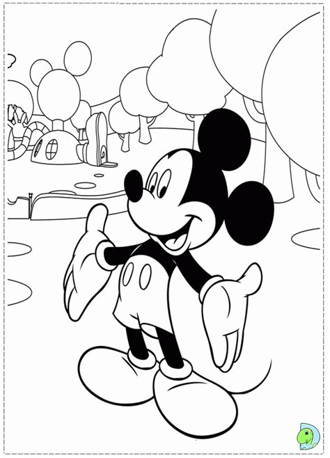 mickey mouse clubhouse giant coloring pages coloring page of mickey mouse clubhouse coloring home