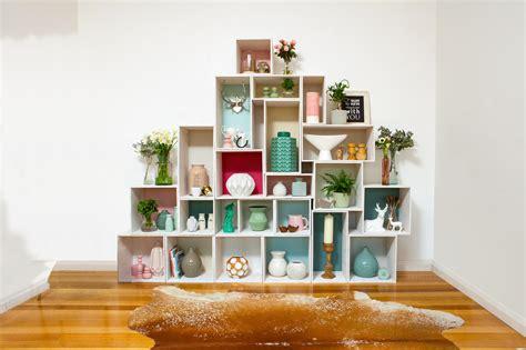 diy      stackable box shelves