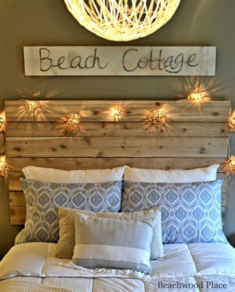 Beachy Room Decor Headboard On Pinterest Nautical Headboard Valspar Gray Paint And Driftwood Headboard