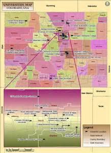 list of universities in colorado map of colorado