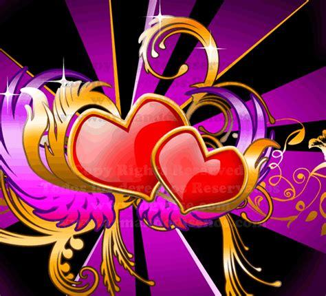 imagenes romanticas en 3d imagen de amor de corazones con movimiento