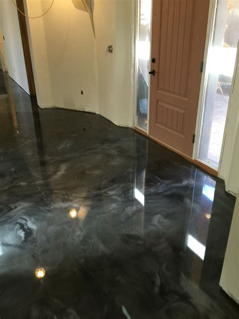 Metallic epoxy floor coating by Sierra Concrete Arts