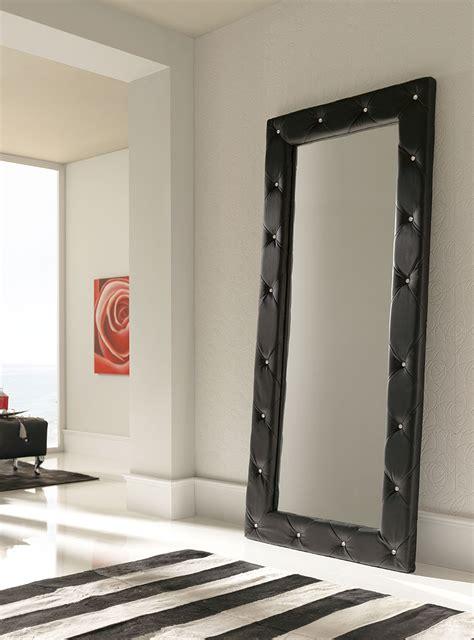 Framed Bathroom Mirror Ideas miroir mural capitonn blanc noir ou argent design unity