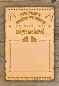 cowboy invitation template best photos of free printable western templates country