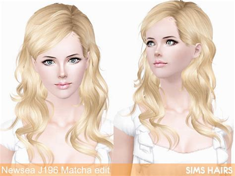 sims 3 cc hair colours newsea s j196 matcha hairstyle retextured by sims hairs
