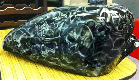 airbrushed motocross airbrushed skull theme 1 custom painted motorcycle
