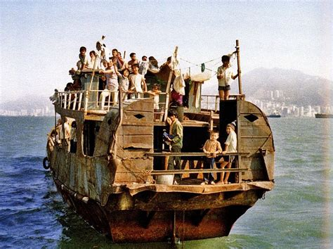 refugee boat vietnam vietnamese refugee ship besieged pinterest