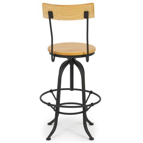 antique swivel chair hardware vintage bar stool w back swivel adjustable seat height