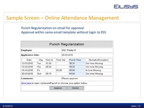 attendance management system template choice image