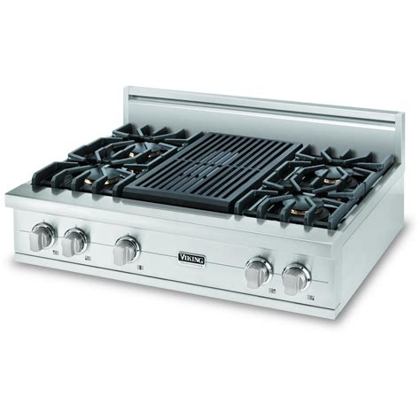 Gas Cooktop With Grill 36 viking vgrt536 4q 36 inch professional series gas