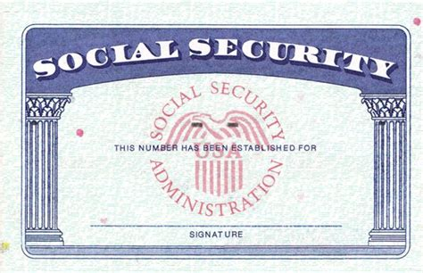 Social Security Card Template by Blank Social Security Card Template Emetonlineblog