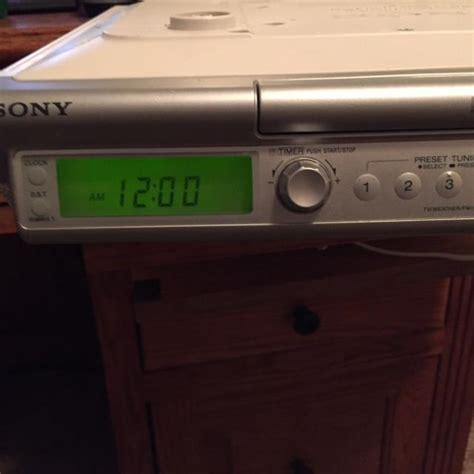 kitchen clock radio cabinet sony icf cd543rm kitchen cd clock radio nex tech classifieds