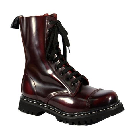 s unisex boots rocky 10 burgundy leather
