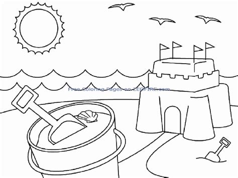 Beach Coloring Pages Preschool | beach coloring pages for preschool az coloring pages