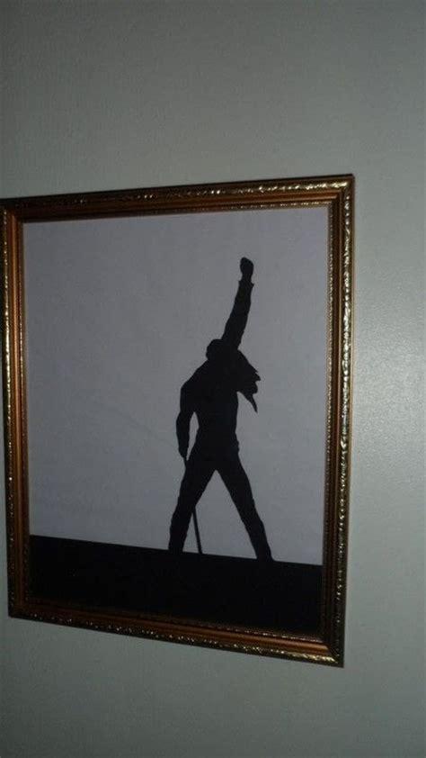 freddie mercury papercut silhouette frame