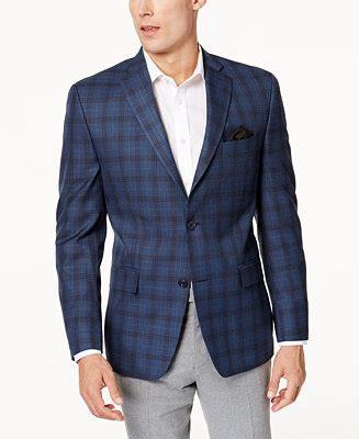 Jaket Gunung The Grey Navy Blue michael kors s classic fit blue gray plaid sport coat blazers sport coats macy s
