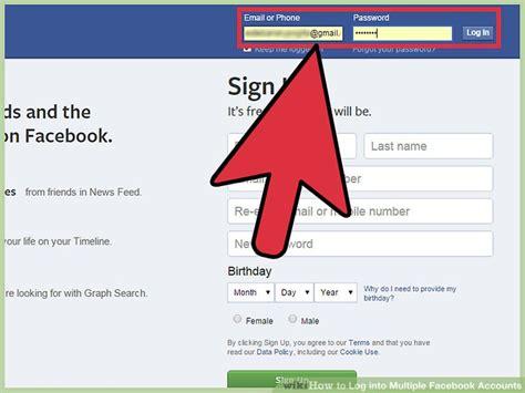 ways  log  multiple facebook accounts wikihow