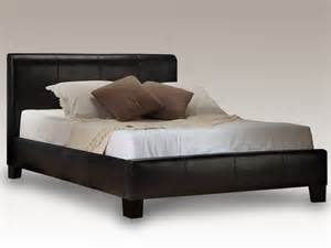 Leather King Size Bed Frame Birlea King Size Black Faux Leather Bed Frame