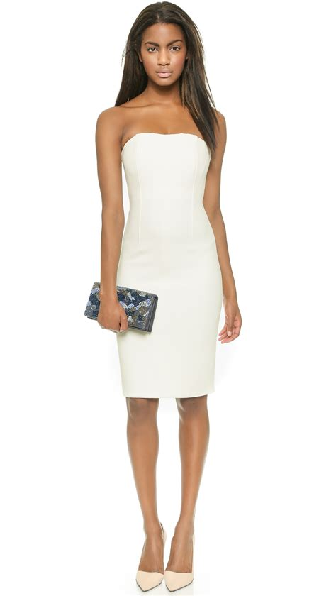 2 Die 4 Single Printed Jersey Strapless Dress by Nita Slim Fitted Strapless Dress