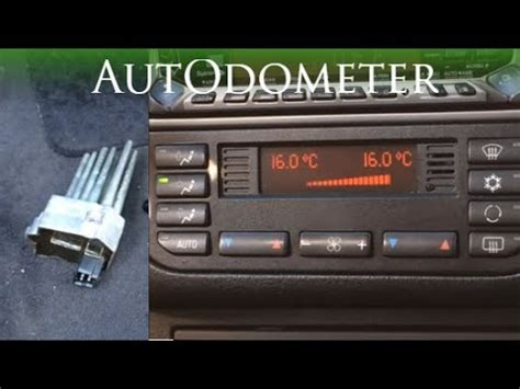 how to change blower motor on a 1997 gmc savana 3500 how to replace a blower motor resistor 1997 bmw 328is e36 youtube