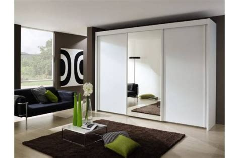 imperial 3 door sliding wardrobe with 1 mirrored door w