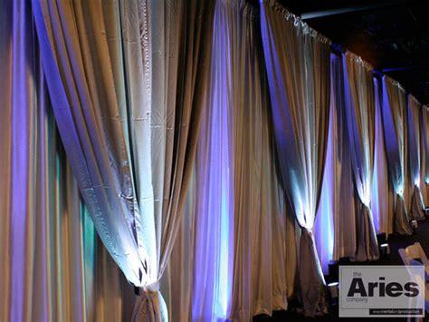 how to drape fabric on walls lighting design the aries company