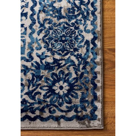 blue rug area rugs artifact gray blue area rug wayfair