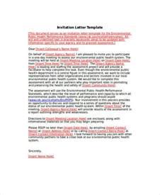 Invitation Letter Sle Rsvp 34 Sle Invitation Letter