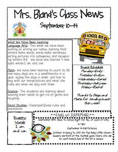 kindergarten classroom newsletter template 6 best images of s kindergarten monthly newsletter