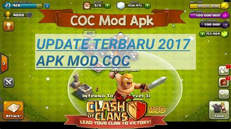 tutorial hack coc android cara download instal clash of clan apk mod hack update