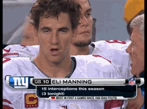 Manning Face Meme - hilarious gif montage of eli manning s facial expressions