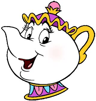 beauty and the beast teapot coloring pages beauty and the beast clipart cliparts co