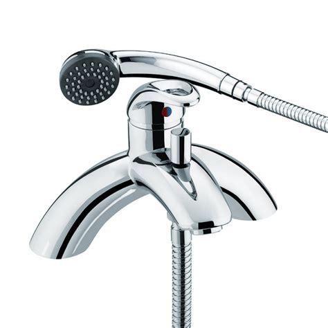 Shower And Mixer Taps by Bristan Java Single Lever Pillar Bath Shower Mixer Tap