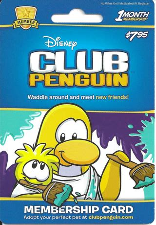 free club penguin membership free club penguin 30 day membership card gift cards