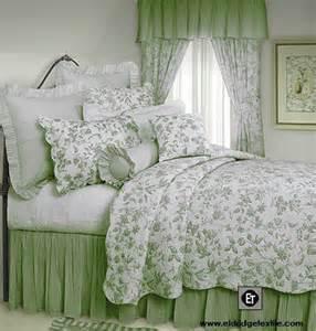 Green Toile Bedding by Brighton Toile Williamsburg Design Quilt 100