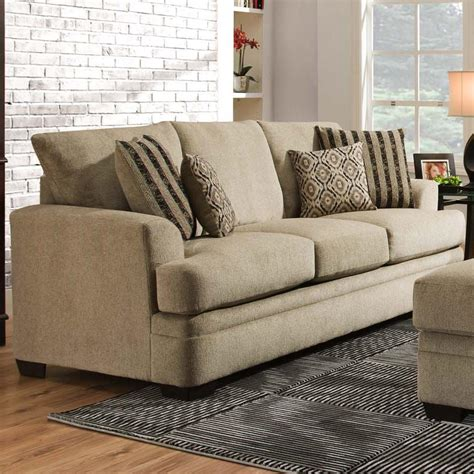 stadium seating couches living room american furniture 3650 casual sofa with 3 seats royal furniture sofas