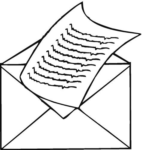 lettere da spedire sta disegno di lettera da spedire da colorare