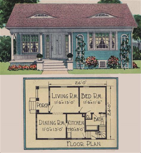 Vintage Cottage House Plans by 1926 Yerkes Plan By Radford American Builder Magazine