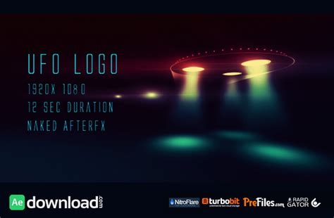 after effects free template bullet shoots 2 ufo logo videohive project free download free after