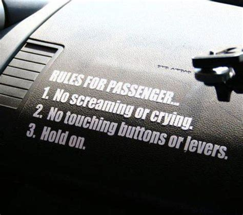 Kaos Jeep My Car Rule for passengers sticker decal for holden vl turbo