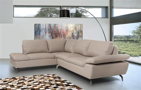 divani furniture divani casa peony modern grey eco leather sectional sofa