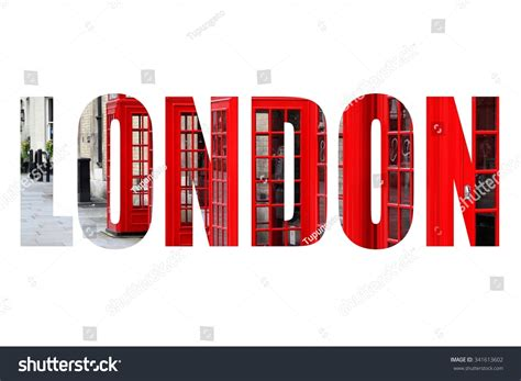 Search On By Name And City Uk City Name Word With Photo In Background Isolated On White 341613602