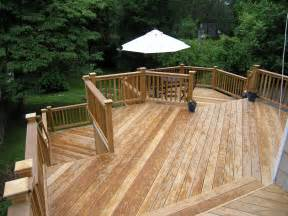 Cos cob natural wood deck completed custom decks of fairfield county connecticut amp westchester