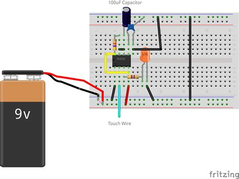 breadboard circuit for 555 timer 555 timer interactive costumes
