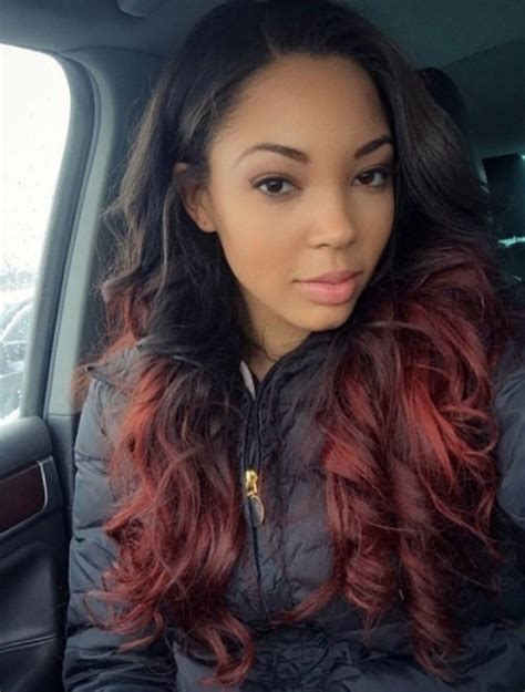 ombre hair on black women 30 hottest red ombre hair ideas hairstyles update