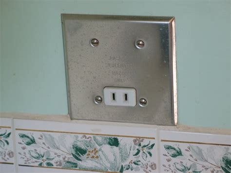 bathroom outlets how to replace a razor only receptacle with a gfci