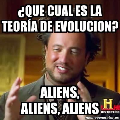 Memes De Aliens - meme ancient aliens 191 que cual es la teor 237 a de evolucion