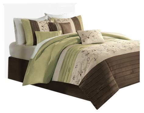solid comforter sets shop houzz olliix polyoni solid 7 comforter set