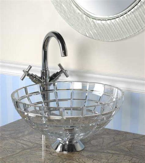 cut crystal vessel sink new crystal vessel from le bijou collection elegant